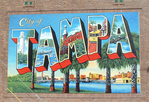 Downtown tampa page 1 for City of tampa mural