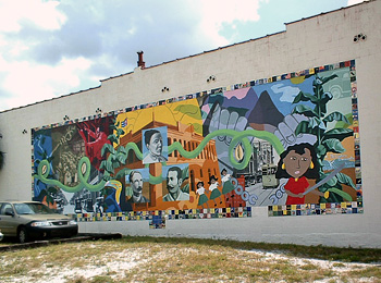 Ybor city for City of tampa mural