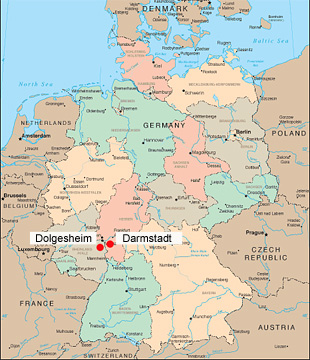 Maas Brothers History - Germany map in 1850